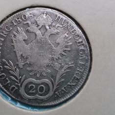 Moneda argint Austria 20 Kreuzer 1808