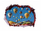 Cumpara ieftin Sticker decorativ, Gaura in perete 3D, Baloane, 85 cm, 400STK