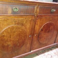 Bufet vechi din lemn masiv Mobila Stil Furnir Inchizatoare 3 bronz sertare usi