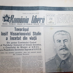 Romania libera 6 martie 1953-moartea lui stalin