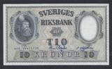 A5168 Sweden Suedia 10 kronor 1958 SEMNATURI DIFERITE UNC