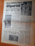 Sportul 14 mai 1979-nadia comaneci tripla campioana la CE de gimnastica
