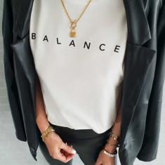 Z334-2 Tricou cu imprimeu Balance
