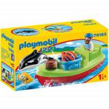 Set de Constructie Pescar cu Barca - 1.2.3, Playmobil