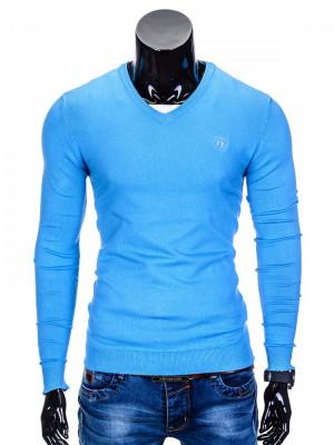 Bluza pentru barbati, din bumbac, albastru, casual slim fit - E74 foto