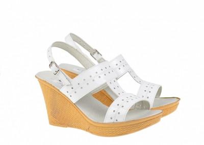 Sandale dama din piele naturala cu platforma S46LA foto