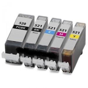 Set 5 cartuse canon PGI520 Bk/CLI521Bk/CLI521C/CLI521M/CLI521Y compatibile foto