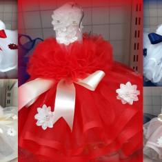 Lumanare de botez pentru fetite si baieti cu floricele colorate - LMNFL3