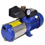 Cumpara ieftin Pompă cu manometru 1300 W 5100 L/h Albastru