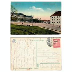 Sibiu 1917 - Hermannsplatz, ilustrata circulata