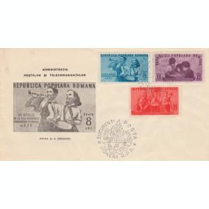 1950 Romania, FDC Un an de la infiintarea Organizatiei de Pionieri, LP 265