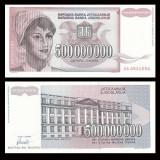= IUGOSLAVIA – 500 000 000 DINARA – F - 1993 – UNC   =