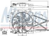 Ventilator radiator (cu carcasa) OPEL ASTRA G, ZAFIRA A 1.2-2.0 intre 1998-2009