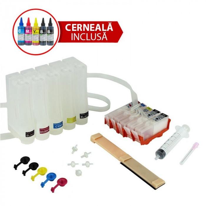 Sistem de alimentare continua ciss hp364 cu 5 cartuse cerneala cu cerneala dye