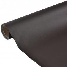 [en.casa]® Piele sintetica, 1,4 x 4 m, 100% PVC, maro