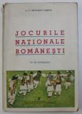JOCURILE NATIONALE ROMANESTI de G.T. NICULESCU VARONE , CU 50 FOTOGRAFII , 1938