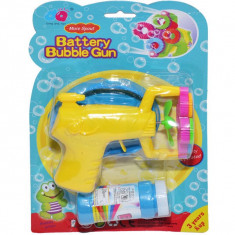 Pistol cu elice + rezerva pt baloane sapun