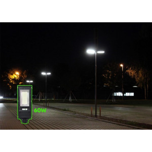 Lampa led iluminare, senzor miscare, incarcare solara, 60W