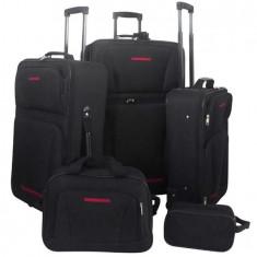 Set 5 bagaje/trollere negru