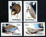 Romania 1998, LP 1458, Pasari de noapte, seria, MNH! LP 2,00 lei
