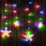 Cumpara ieftin Sir luminos de Craciun - model stele - multicolor, 6 mari, 6 mici, 2 x 1 m