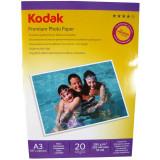 Hartie foto Kodak Premium Glossy A3, 200 g/mp, 20 coli/pachet