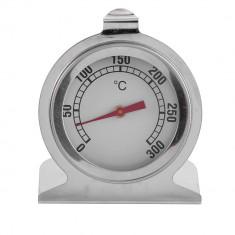 Termometru alimentar pentru cuptor, analogic, metalic, termometru pentru gatit