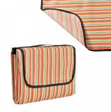 [casa.pro]® Patura picnic - rosu - galben in dungi; masura: 200 x 190 cm