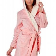 Halat de baie calduros Sofie, roz, Selena Secrets