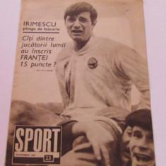 Revista SPORT-nr.23/12.1968 (prezentare POLI IASI, Romania-Elvetia)