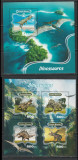 Guinea-Bissau 2016 - Dinozauri S/S 1v + M/S 1v MNH, Nestampilat