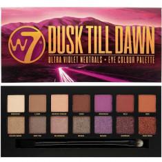 Paleta farduri W7 Dusk Till Dawn Eye Colour Palette Ultra Violet Neutrals 14 culori 9.6g