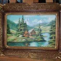 Tablou ulei pe panza  - Peisaj de munte 2, Peisaje, Realism