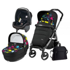 Carucior 3 in 1, Peg Perego, Book Plus 51 S, Black, Completo Elite