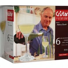 Set pahare pentru vin alb 6 buc 220cc PREMIUM MN011258 CRISTAR