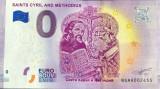 XX. RARR : 0 EURO SOUVENIR - BULGARIA , SFINTII CHIRIL SI METODIU , 2019.1 - UNC