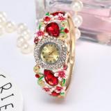 Ceas de dama vintage, cu pietre ?i flori
