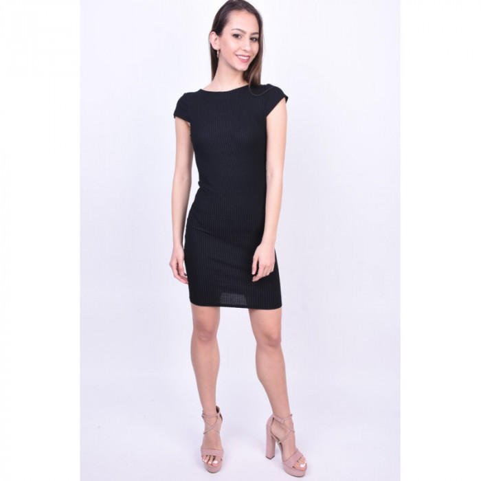 Rochie Only Pablo Stripe Capsleeve Black