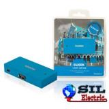 Hub USB 4 porturi Curacao albastru Sweex