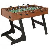 Masă de fotbal pliantă, maro, 121 x 61 x 80 cm