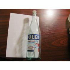 GE - Sticla veche ULEI 1 litru Romania perioada comunista / impecabila