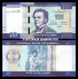 = LIBERIA - 10 DOLLARS - 2016 - UNC  =
