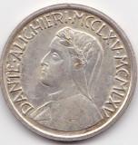 Italia token jeton Dante Alighieri 1965 VF+ AG, America de Nord, Argint