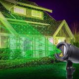 Cumpara ieftin Proiector laser stelute luminoase verzi, 220V, exterior IP44