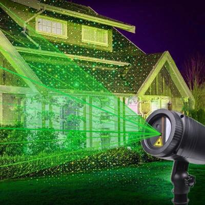 Proiector laser stelute luminoase verzi, 220V, exterior IP44 foto