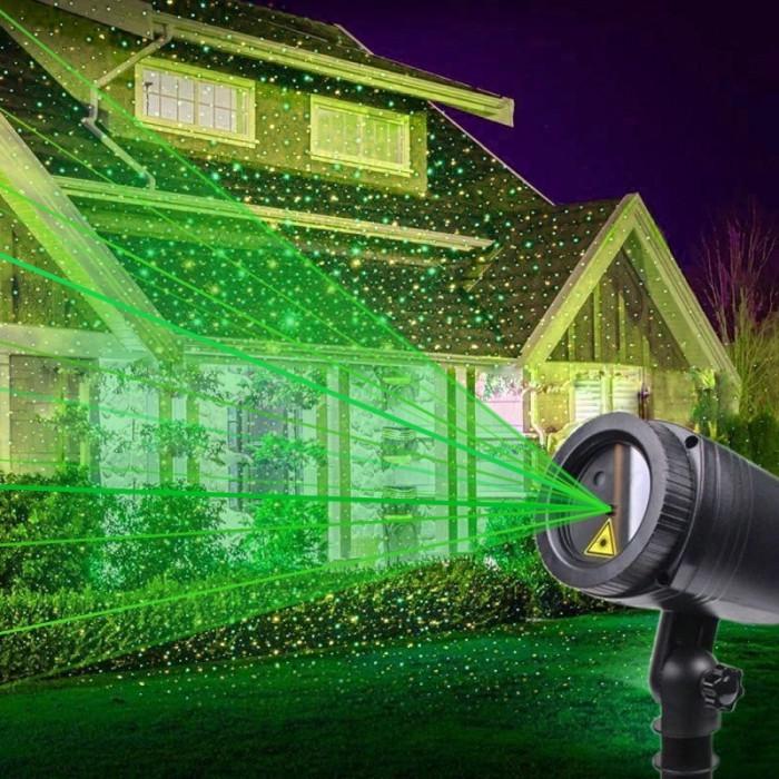 Proiector laser stelute luminoase verzi, 220V, exterior IP44