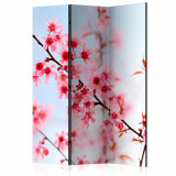 Paravan din 3 parti - Simbol al japoniei - flori sakura - 135 x 172 cm, Artgeist