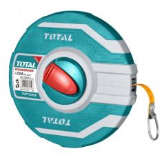 Ruleta Total, lungime 20 m, diametru 12.5 mm, carcasa fibra de sticla, Verde