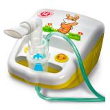 Cumpara ieftin Aparat aerosoli cu compresor Little Doctor, 10 ml, 3 dispensere, accesorii incluse, Alb/Galben