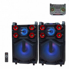 Boxe Active Audio, Mixer, Bluetooth, RadioFM, USB, MIC, 140W UF1511DT